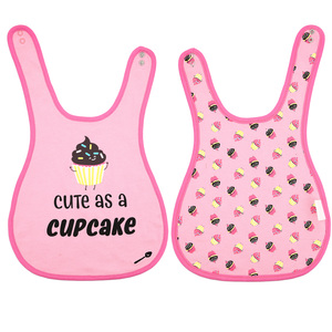 Cupcakes by Late Night Snacks - Pink Reversible Bib (6M - 3 Years)