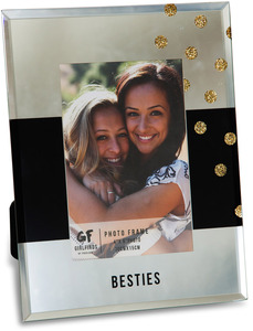"Besties by Girlfinds - 7"" x 9"" Mirror Photo (4"" x 6"") Frame"