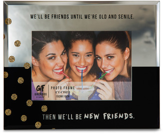 "New Friends by Girlfinds - 7"" x 9"" Mirror Photo (4"" x 6"") Frame"