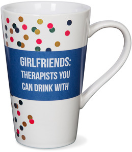 Girlfriends by Girlfinds - 18 oz Polka Dot Funny Mug