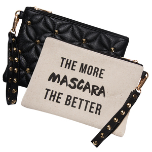 Mascara by Girlfinds - Vegan Leather and Canvas Pouch