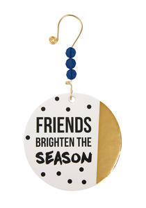 "Friends Brighten the Season by Girlfinds - 3.5"" Paper Ornament"