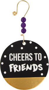 "Cheers to Friends by Girlfinds - 3.5"" Paper Ornament"