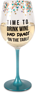 Time to Drink Wine by Girlfinds - 12 oz Wine Glass
