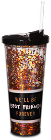 Best Friends Forever by Girlfinds - 22 oz Glitter Tumbler