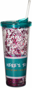 Friends We Won't Forget by Girlfinds - 22 oz Glitter Tumbler