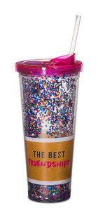The Best Friendships by Girlfinds - 22 oz Glitter Tumbler