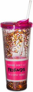 Friends Don't Let Friends by Girlfinds - 22 oz Glitter Tumbler