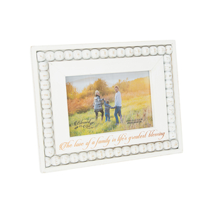 "Family by Blessed by You - 9.25"" x 7.25"" Frame (Holds 6"" x 4"" Photo)"