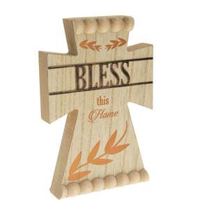 "Bless by Blessed by You - 8"" Self Standing Cross Plaque"