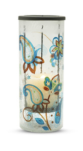 "Home by Perfectly Paisley - 10"" Glass Hurricane Cdl Hldr"