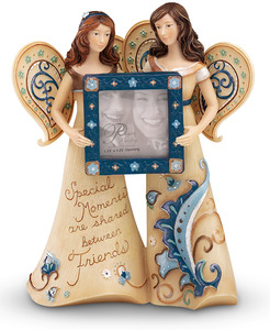 "Special Moments by Perfectly Paisley - 5.5"" Angels w/Photo Frame"