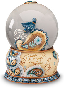 Friend by Perfectly Paisley - Musical Water Globe