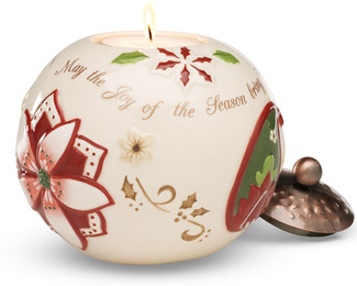 "Home by Perfectly Paisley Holiday - 3.75"" Round Candle Holder"