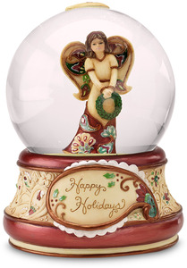 Happy Holidays by Perfectly Paisley Holiday - Musical Water Globe