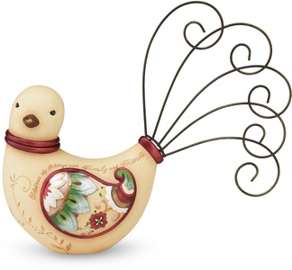 "Celebrate the Holidays by Perfectly Paisley Holiday - 5"" Bird Card/Photo Holder"