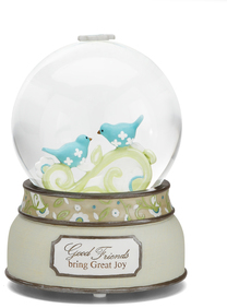 Good Friends by Perfectly Paisley - 100mm Musical Water Globe