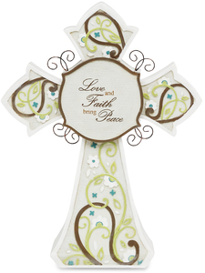 "Love by Perfectly Paisley - 7.5"" Self Standing Cross"