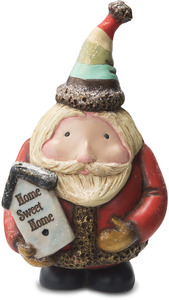 "Home Sweet Home by Roly Poly Christmas - 6"" Santa with Birdhouse"