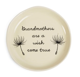 "Grandmother by Dandelion Wishes - 4.5"" Keepsake Dish"