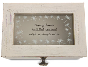 "Dream by Dandelion Wishes - 6"" x 4"" x 3"" Wish Box"