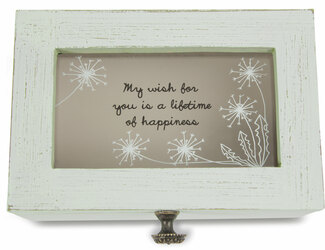 "My Wish by Dandelion Wishes - 6"" x 4"" x 3"" Wish Box"