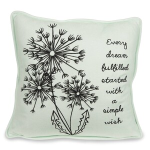 "Dream by Dandelion Wishes - 12"" Micro Suede Pillow"