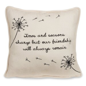 "Friendship by Dandelion Wishes - 12"" Micro Suede Pillow"