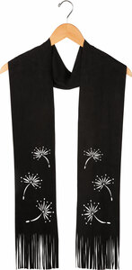 "Black by Dandelion Wishes - 72"" Micro Suede Scarf"
