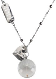 "Grandma by Dandelion Wishes - 29"" Sweater Necklace with Glass Wish Pendant"