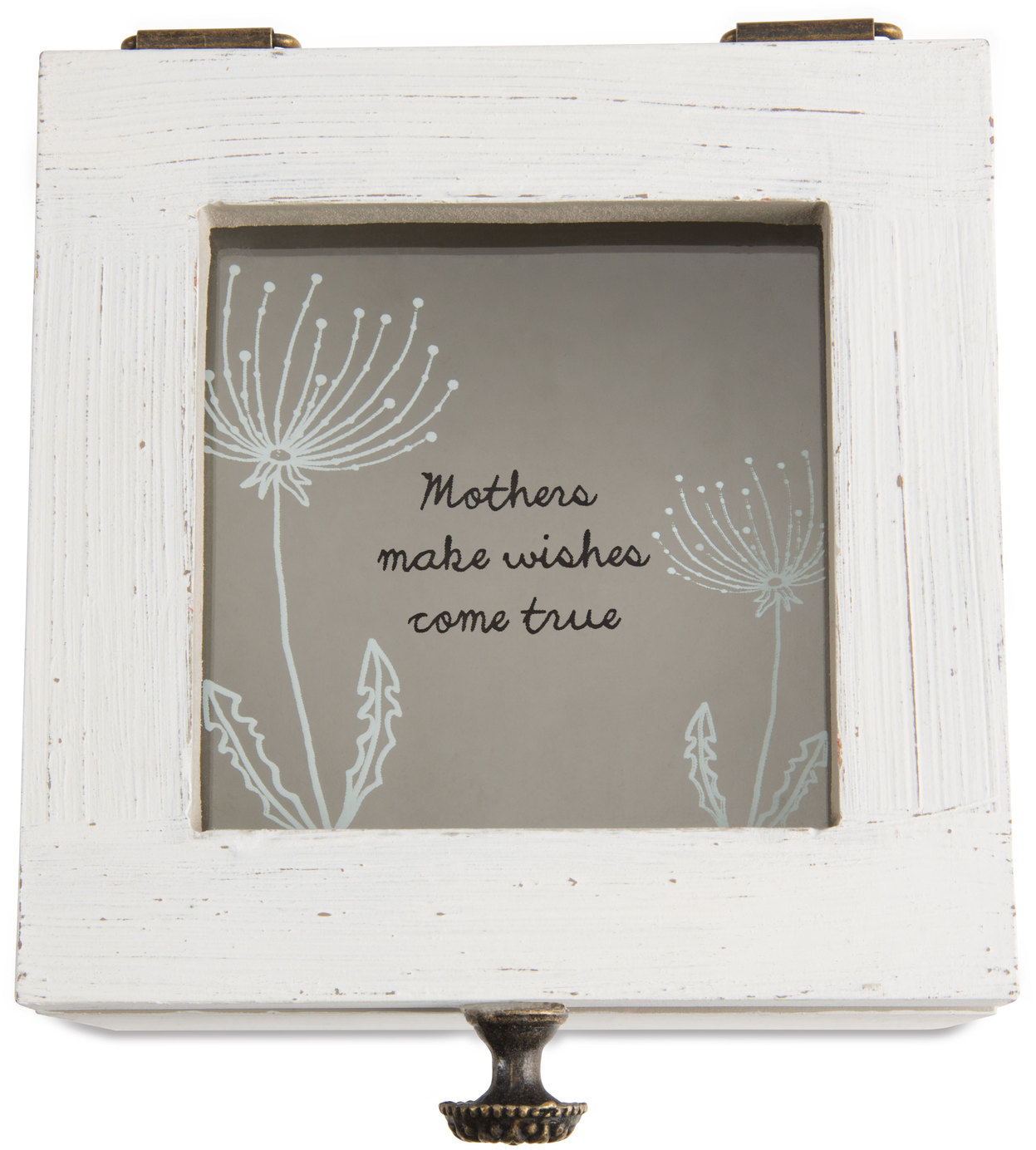 "Mother by Dandelion Wishes - Mother - 4.5"" x 4.5"" x 3"" Wish Box"