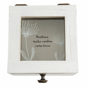"Mother by Dandelion Wishes - 4.5"" x 4.5"" x 3"" Wish Box"