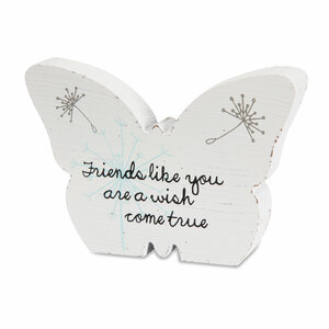 "Friend by Dandelion Wishes - 5"" MDF Butterfly"
