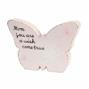 "Mom by Dandelion Wishes - 5"" MDF Butterfly"