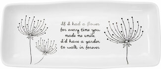 "Smile by Dandelion Wishes - 11"" x 4.5"" Tray"