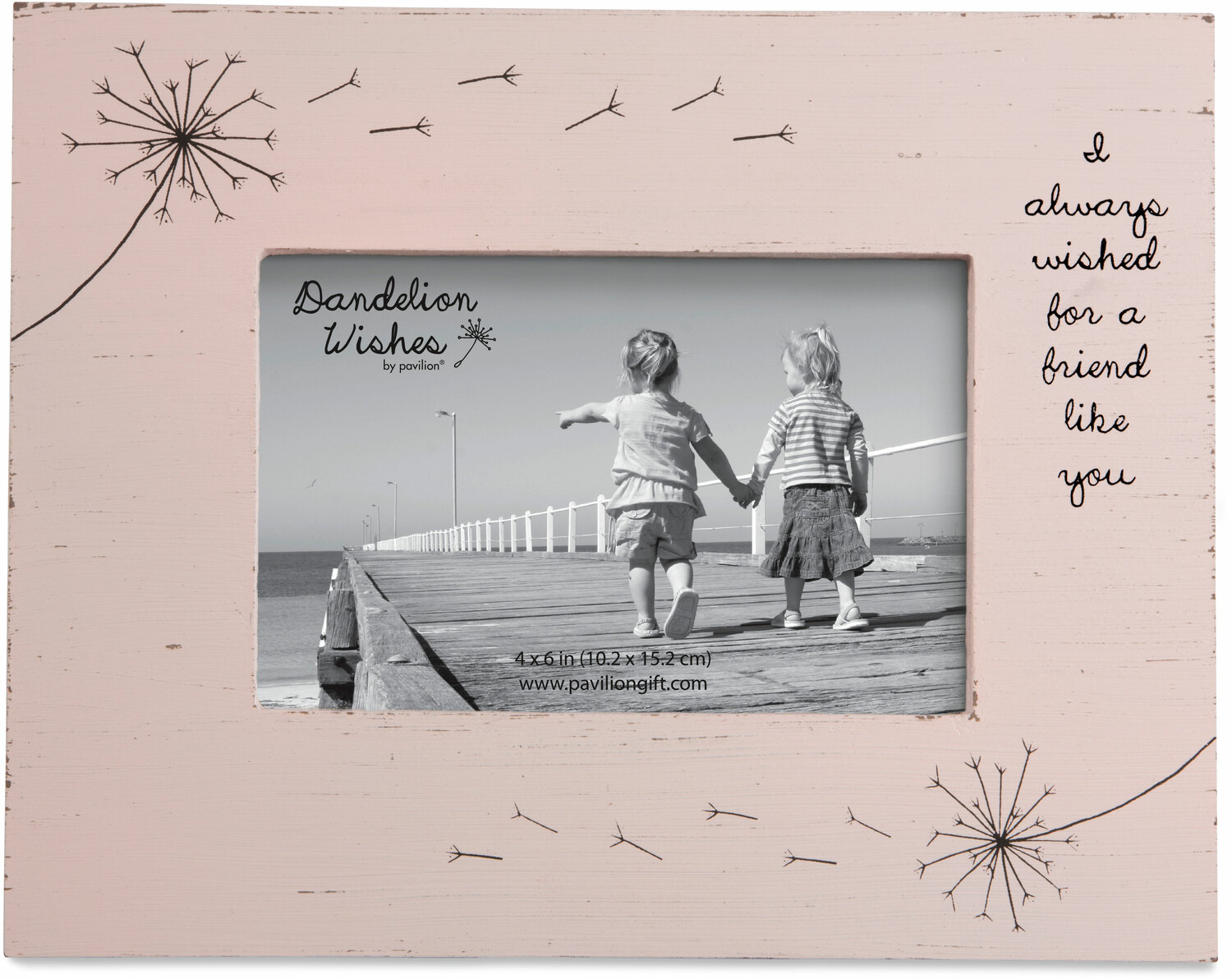 "Friend by Dandelion Wishes - Friend - 7.25"" x 9.25"" Frame (Holds a 4"" x 6"" Photo)"