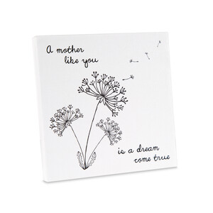 "Mother by Dandelion Wishes - 5"" x 5"" Canvas Plaque"