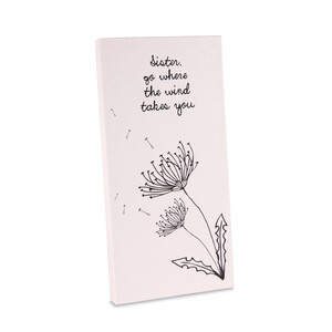 "Sister by Dandelion Wishes - 3.5"" x 7"" Canvas Plaque"