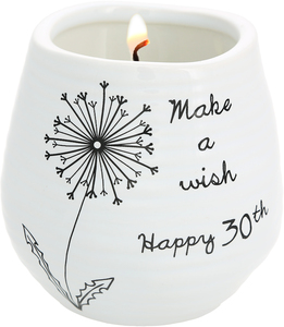 Happy 30th by Dandelion Wishes - 8 oz - 100% Soy Wax Candle Scent: Serenity