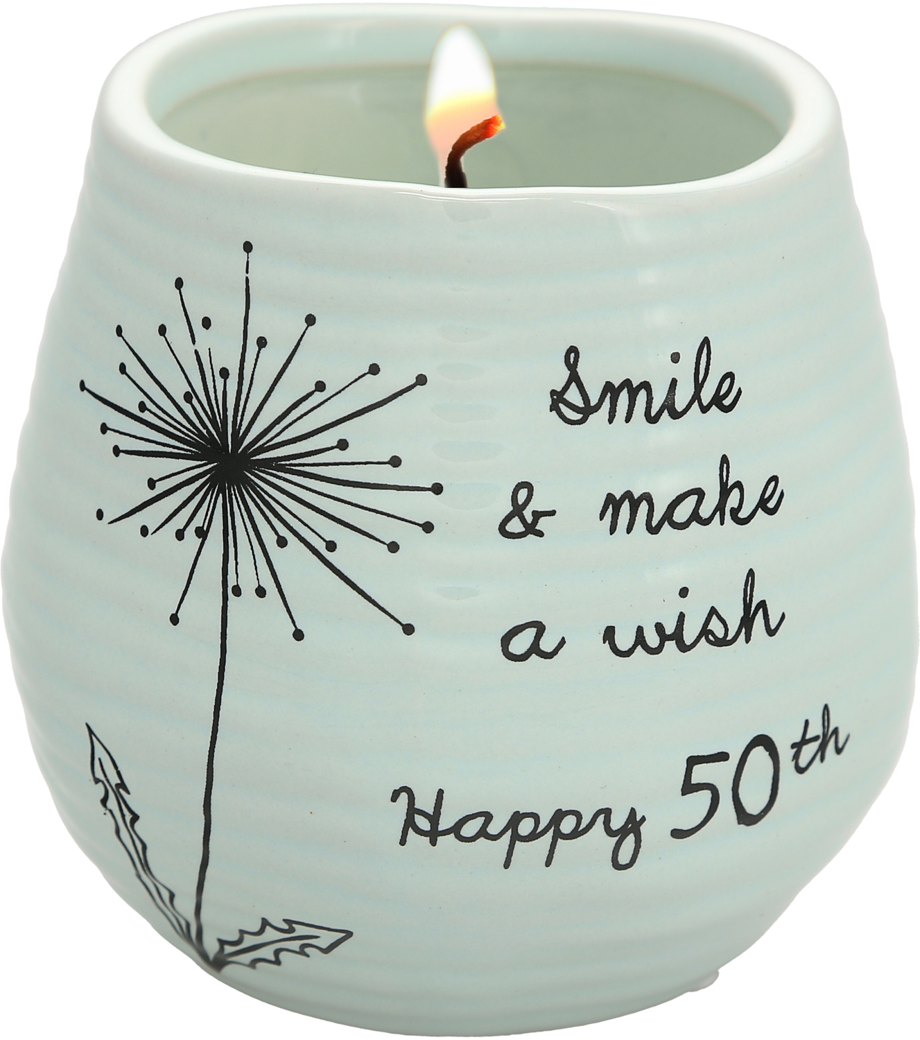 Happy 50th by Dandelion Wishes - Happy 50th - 8 oz - 100% Soy Wax Candle Scent: Serenity