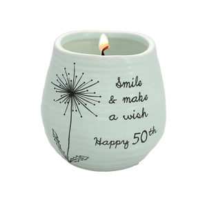Happy 50th by Dandelion Wishes - 8 oz - 100% Soy Wax Candle Scent: Serenity