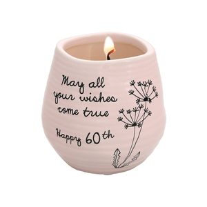 Happy 60th by Dandelion Wishes - 8 oz - 100% Soy Wax Candle Scent: Serenity