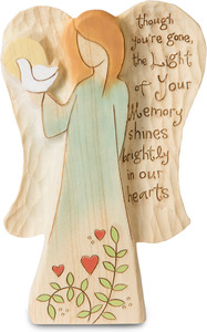 "In Memory by Heavenly Woods - 5.5"" Angel Holding Dove"