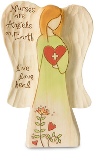 "Nurse by Heavenly Woods - 5"" Angel Holding Heart"