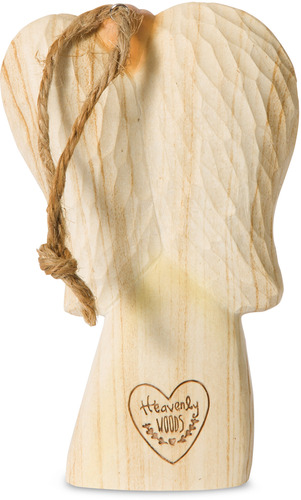 Pavilion My Angel Pavilion Gift Company 78019 4.5 Wooden Carved Angel Figurine Ornament My Mother My Heart