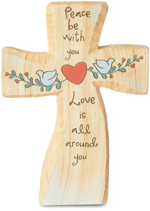 "Peace by Heavenly Woods - 5"" Self-Standing Cross"