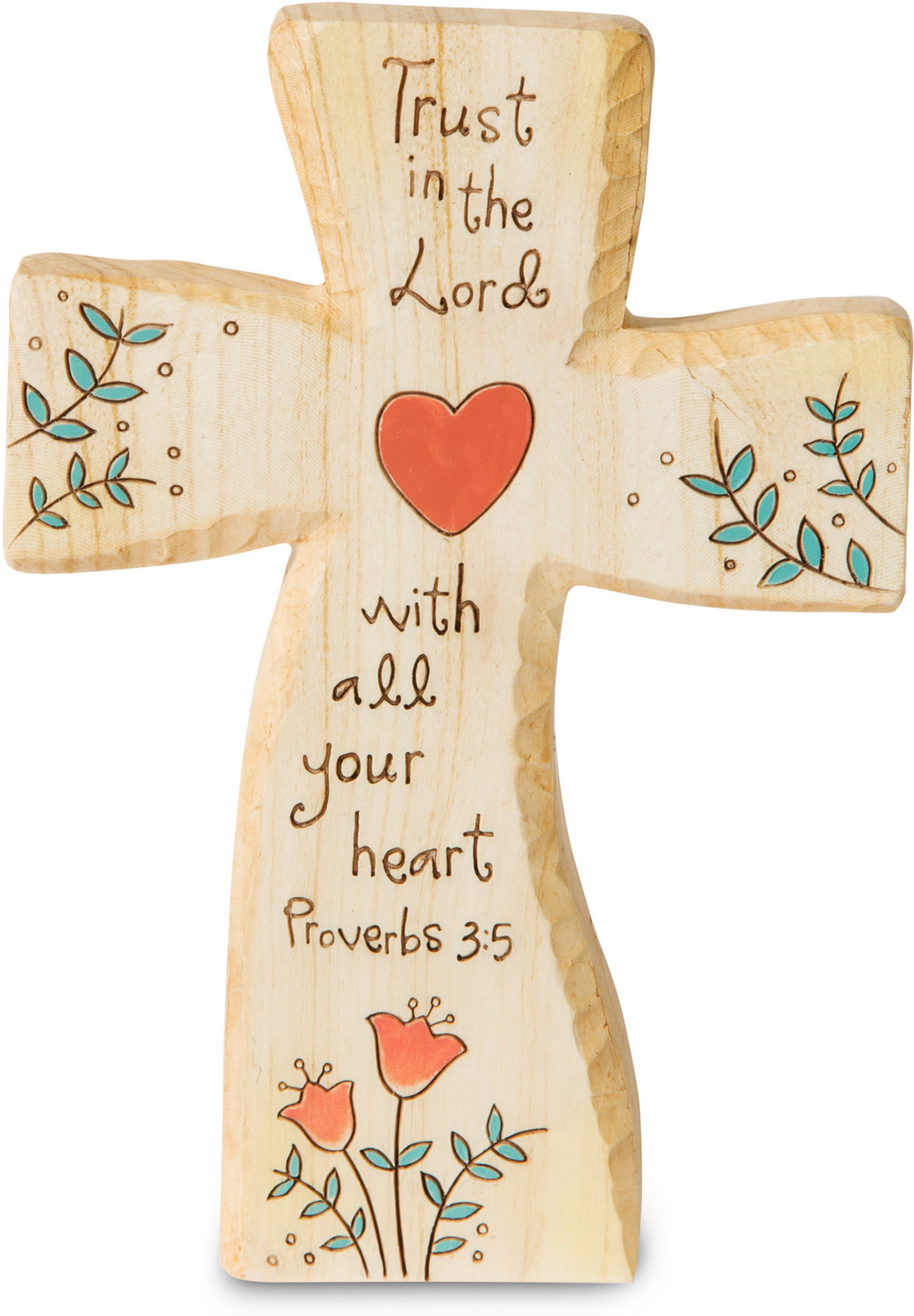 "Trust in the Lord by Heavenly Woods - Trust in the Lord - 5"" Self-Standing Cross Carving"