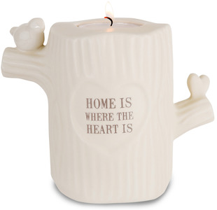 "Home by Heavenly Woods - 4.25"" Candle Holder"