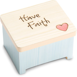 "Have Faith by Heavenly Woods - 2"" Keepsake Box"