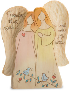 "Friends by Heavenly Woods - 6"" Double Angel"